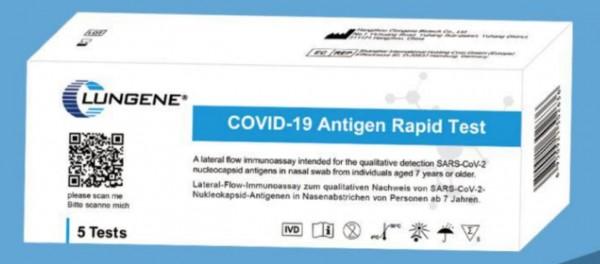 Clungene - COVID-19 Antigentest SCHNELLTEST mit LAIENZULASSUNG