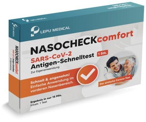 NASOCHECKcomfort Covid-19 Antigen Schnelltest mit Laienzulassung